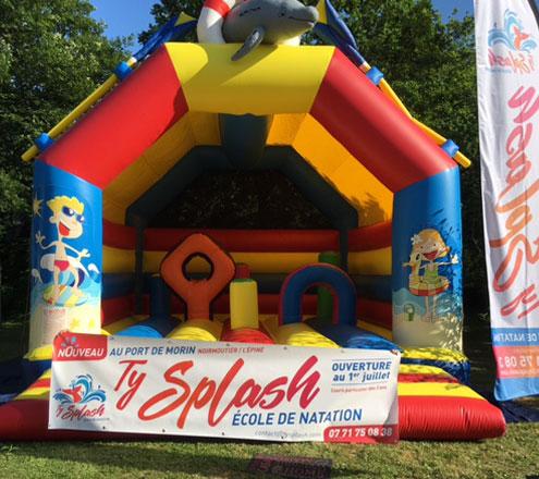 château gonflable pour enfant - Ty splash à Noirmoutier